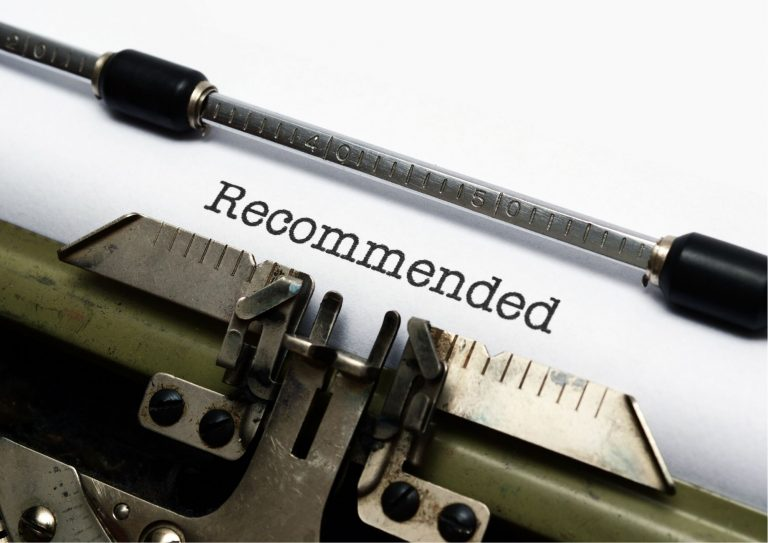 """Typewriter displaying """"Recommended"""""""